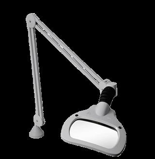 Lupa de mesa industrial LED con lentes rectangulares